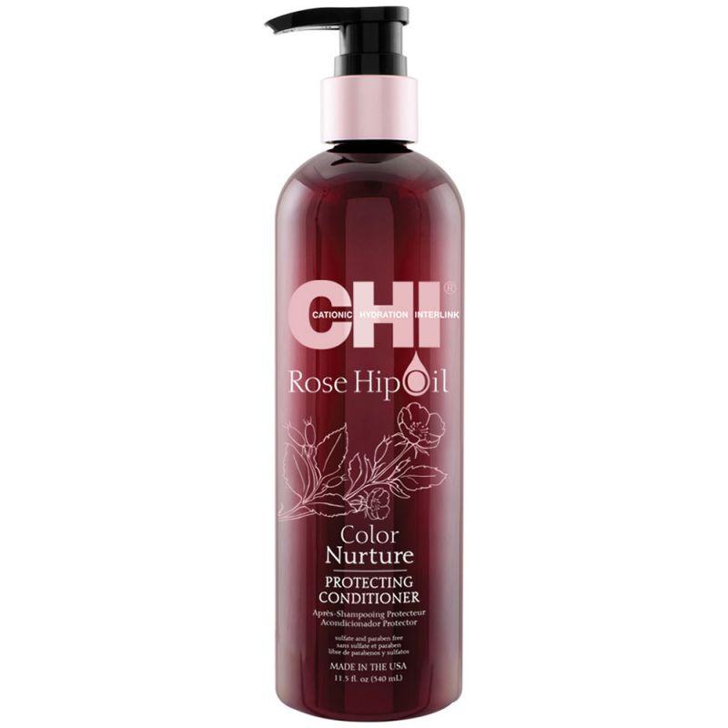 Кондиционер для защиты цвета окрашенных волос CHI Rose Hip Protecting Conditioner (с маслом шиповника) 340 мл
