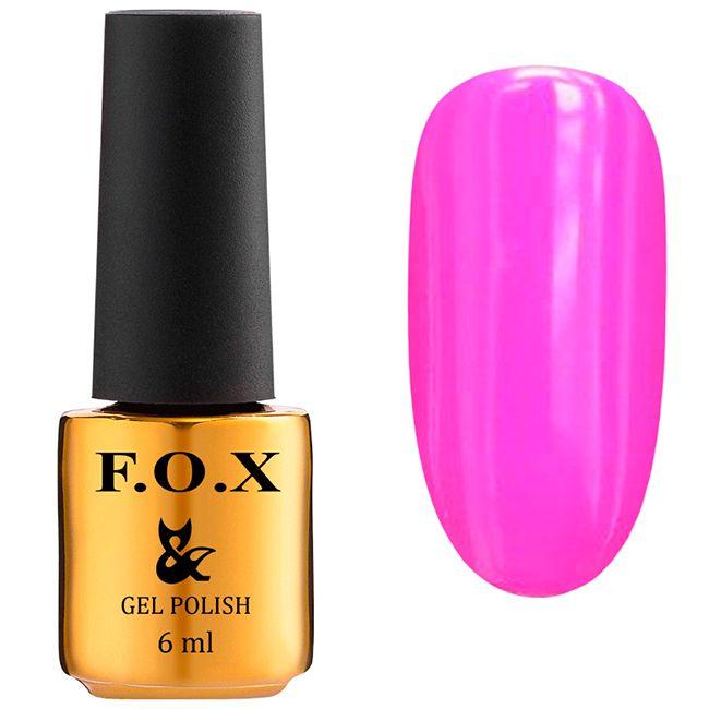 Гель-лак F.O.X Gel Polish Drinks Juice №566 (розово-фиолетовый, эмаль) 6 мл
