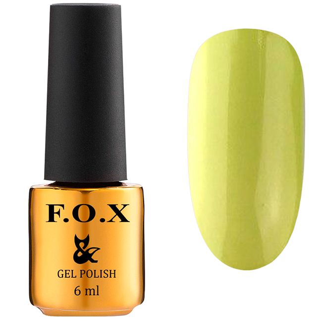 Гель-лак F.O.X Gel Polish Drinks Lemonade №569 (светлый лайм, эмаль) 6 мл