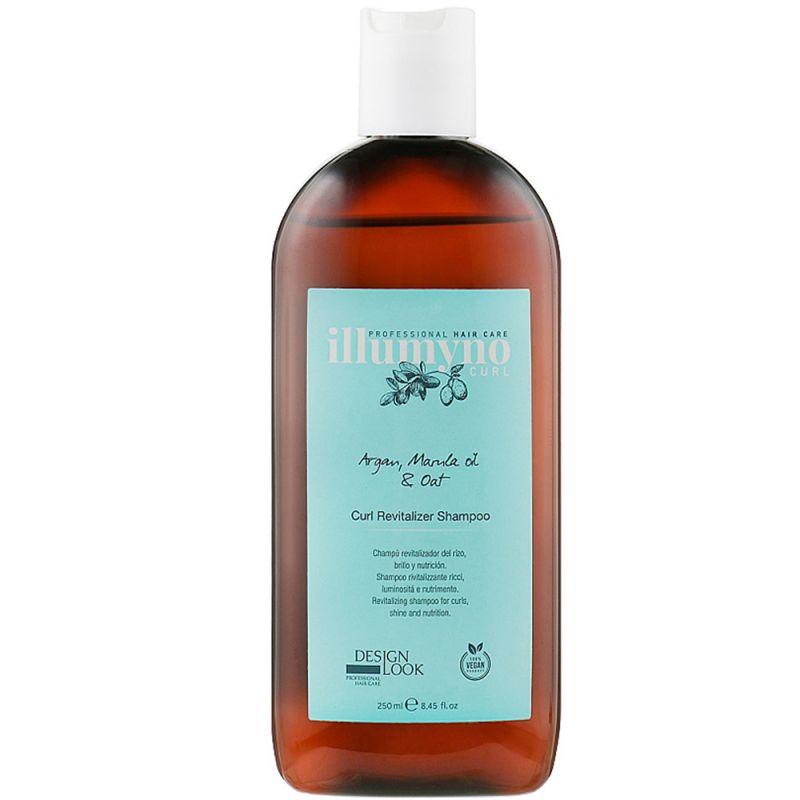 Шампунь для сухих и вьющихся волос Design Look Illumyno Curl Revitalizing Shampoo с маслом арганы и марулы 250 мл