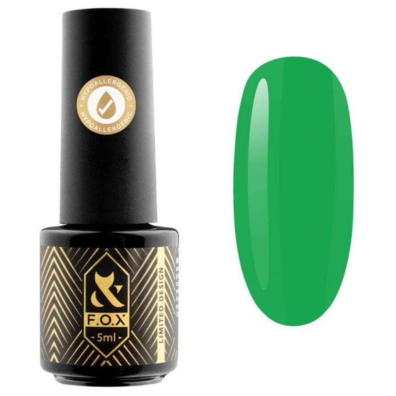 Гель-лак F.O.X Doublemint №001 (сочный зеленый, эмаль) 5 мл