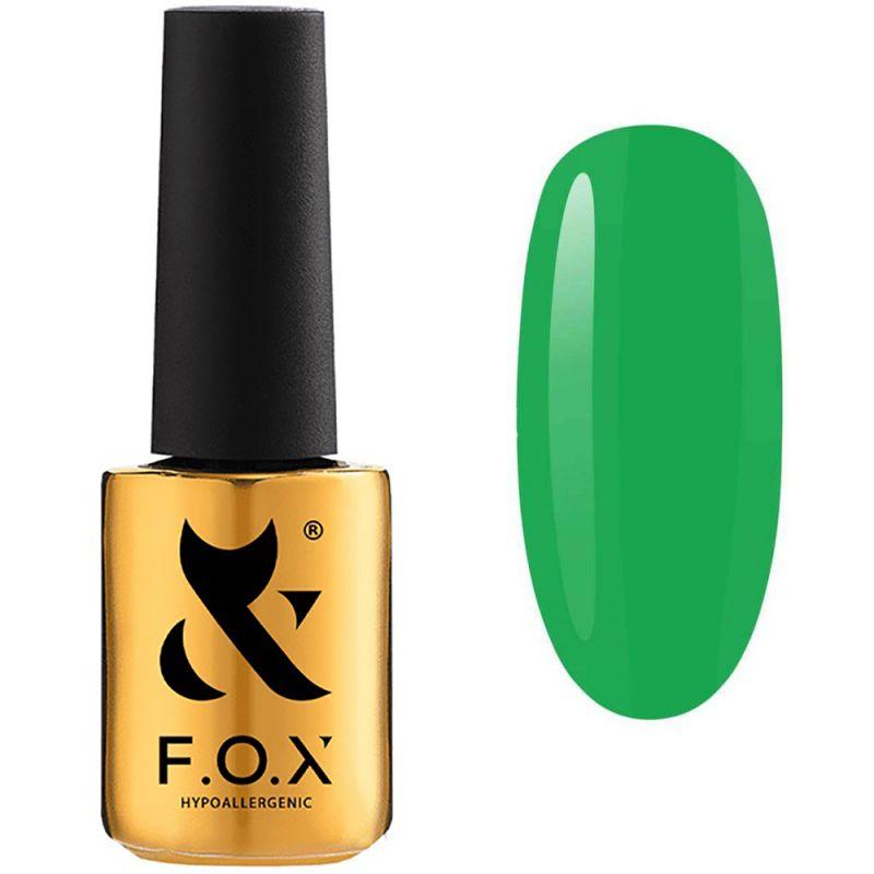 Гель-лак F.O.X Doublemint №001 (сочный зеленый, эмаль) 7 мл