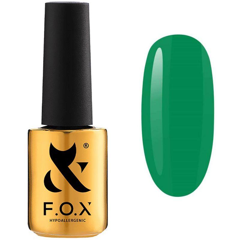 Гель-лак F.O.X Doublemint №002 (зеленый травяной, эмаль) 7 мл