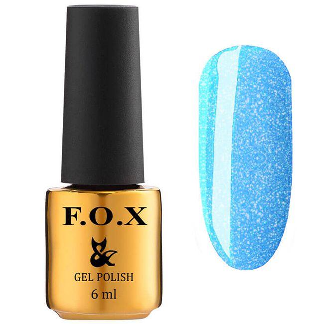 Гель-лак F.O.X Gel Polish Dolls Queen №573 (небесно-голубой с шиммером) 6 мл