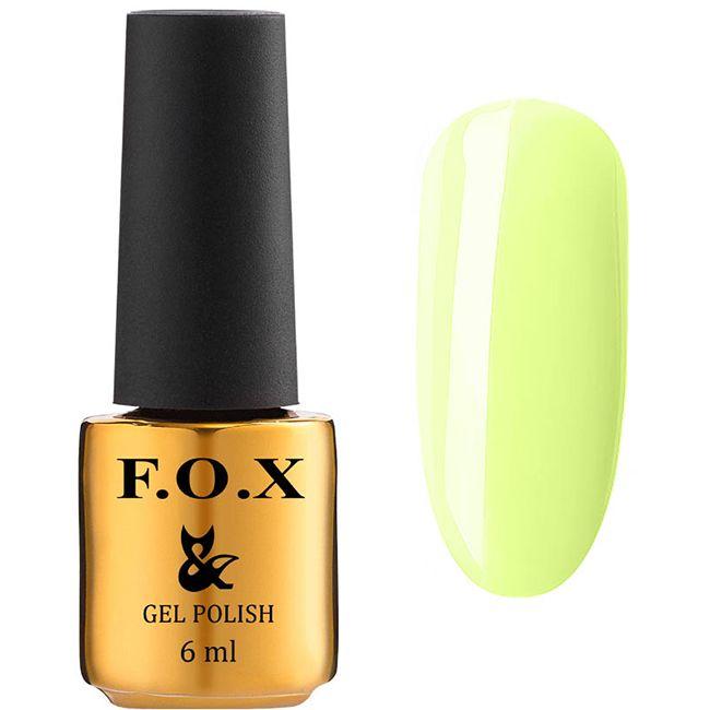 Гель-лак F.O.X Gel Polish Lady Daring №588 (светлый пастельно-лимонный, эмаль) 6 мл