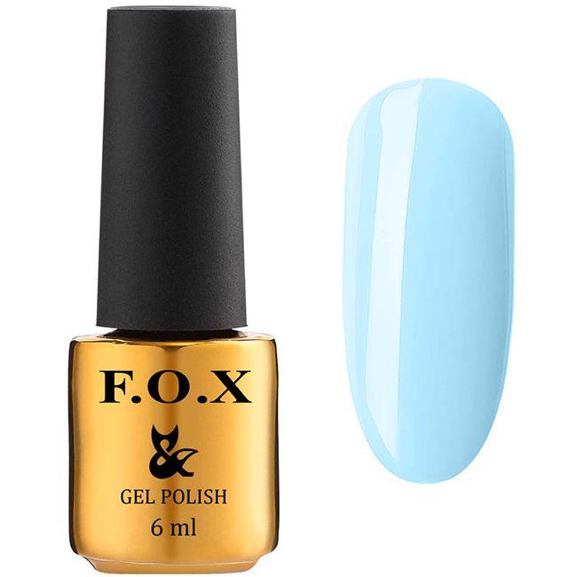 Гель-лак F.O.X Gel Polish Lady Ambitious №589 (светлый пастельно-голубой, эмаль) 6 мл