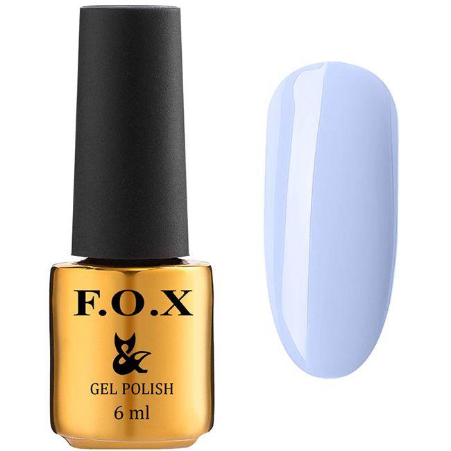 Гель-лак F.O.X Gel Polish Lady Charming №590 (светлый пастельно-лиловый, эмаль) 6 мл