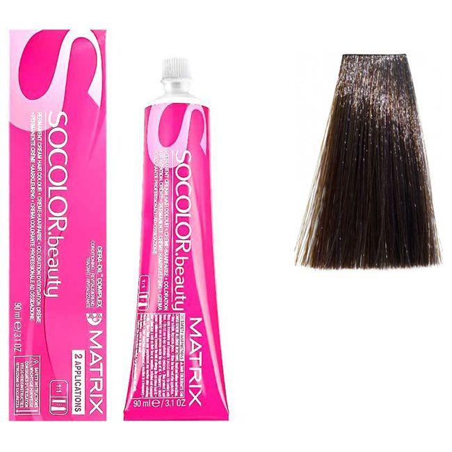 Крем-краска для волос Matrix Socolor.beauty 5AV (светлый шатен пепельно-перламутровый) 90 мл