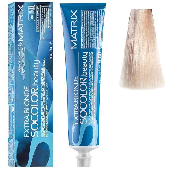 Крем-краска для волос Matrix Socolor.beauty Ultra Blondes A+ (ультра блонд пепельный) 90 мл
