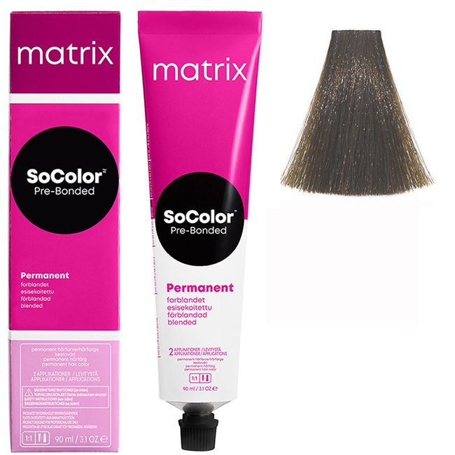 Крем-краска для волос Matrix Socolor.beauty 6NA (натуральный темный пепельный блондин) 90 мл