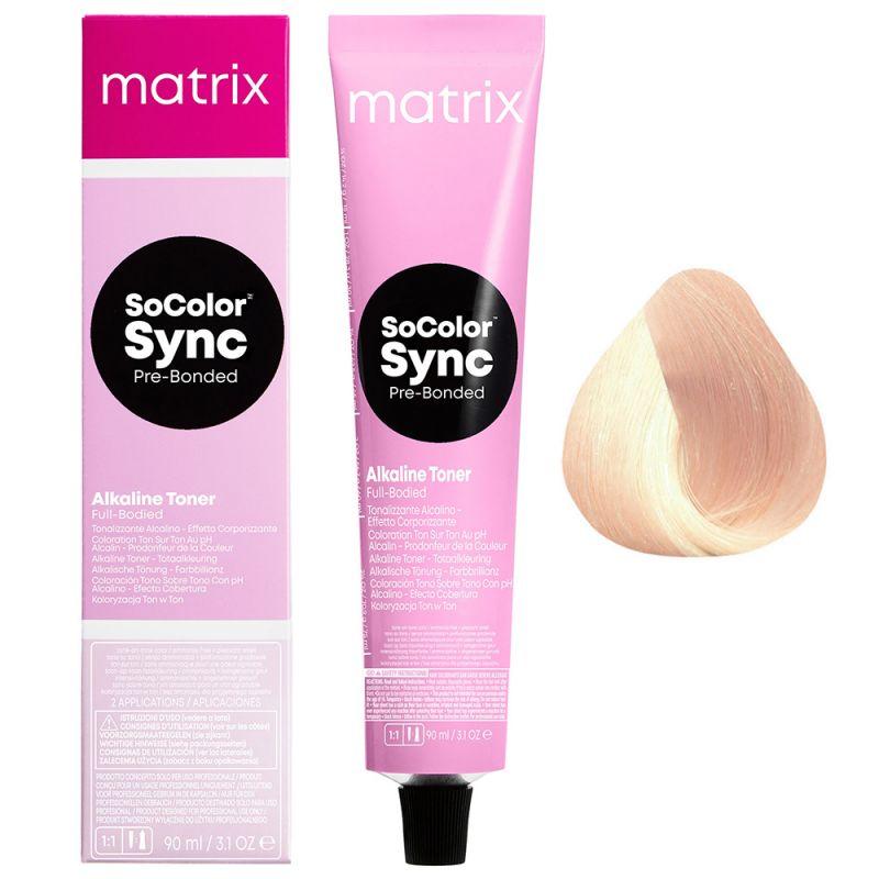 Тонер для волос кислотный Matrix Pre-Bonded Color Sync 10PG (золотистый опал) 90 мл