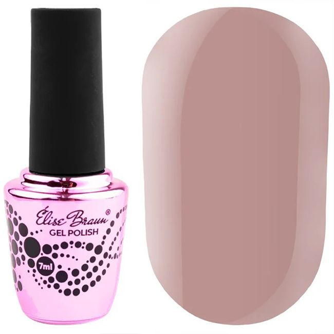Гель-лак Elise Braun №133 (бежево-розовый, эмаль) 7мл