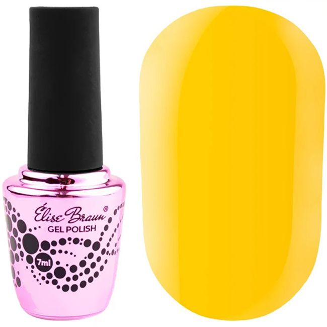 Гель-лак Elise Braun №143 (насыщенный желтый, эмаль) 7 мл