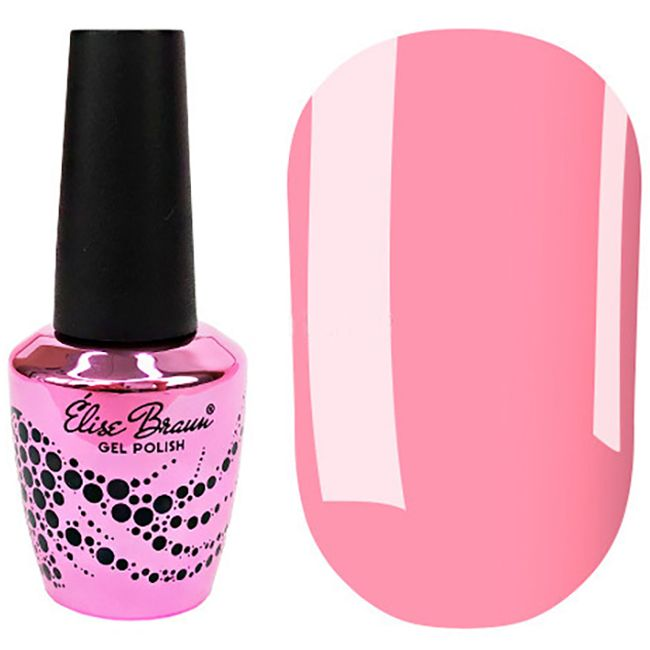 Гель-лак Elise Braun №168 (розовый, эмаль) 7 мл
