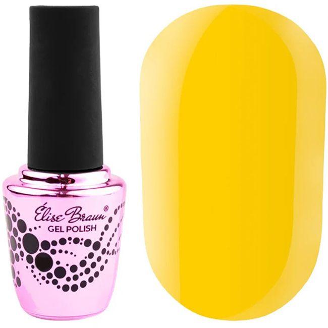 Гель-лак Elise Braun №201 (желтый, эмаль) 15 мл