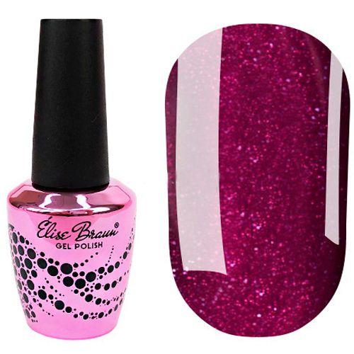 Гель-лак Elise Braun №217 (темно-розовый с блестками) 7 мл