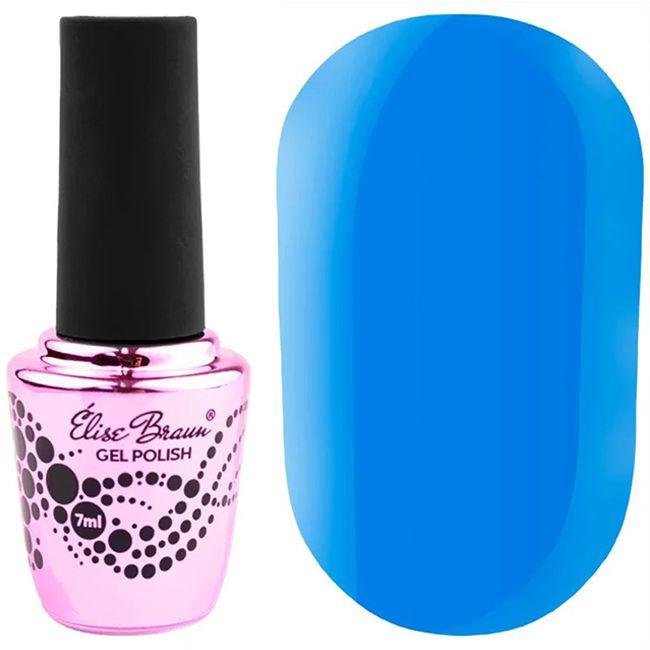 Гель-лак Elise Braun №286 (сине-голубой, эмаль) 7 мл