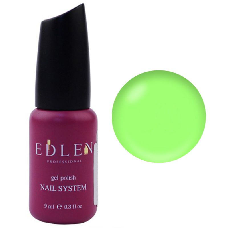 База для гель-лака Edlen Summer Neon Rubber Base №30 (неоновый светло-зеленый) 9 мл