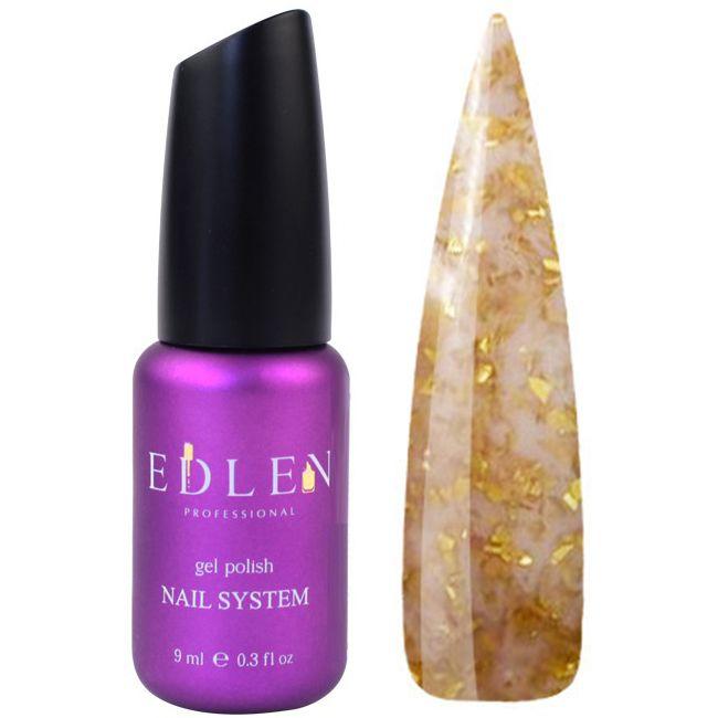 База для гель-лака Edlen Potal №40 (светло-коричневый с золотыми хлопьями) 9 мл