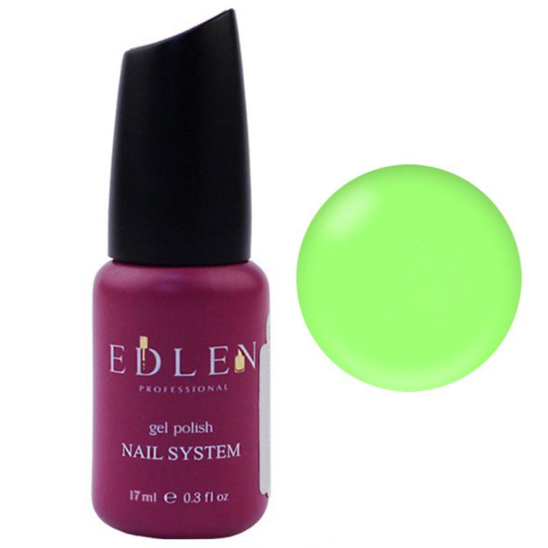 База для гель-лака Edlen Summer Neon Rubber Base №30 (неоновый светло-зеленый) 17 мл