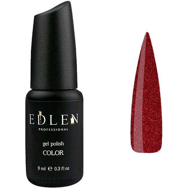 Гель-лак Edlen №16 (красный с красными блестками) 9 мл