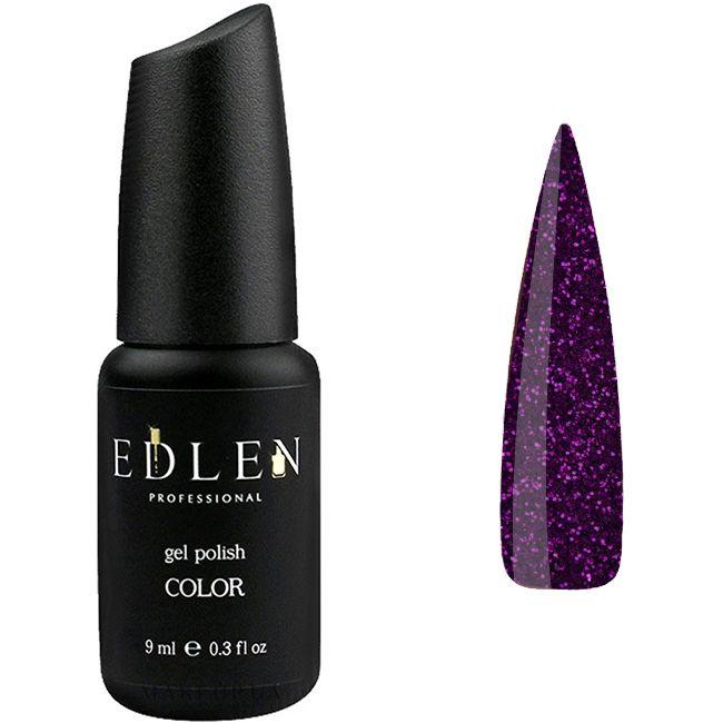 Гель-лак Edlen №20 (фиолетовый с фиолетовыми блестками) 9 мл