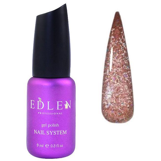 Гель-лак Edlen Flash Fire №10 (розовое золото, светоотражающий) 9 мл