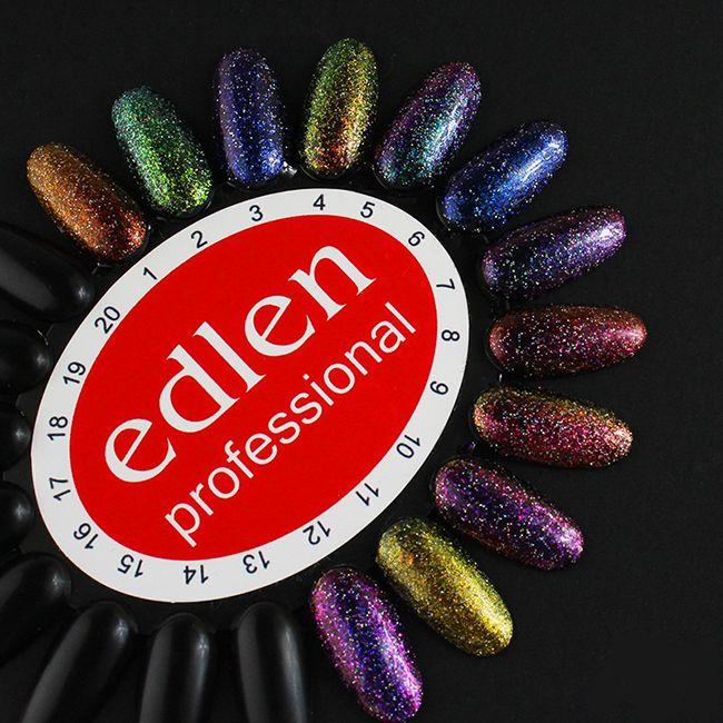 Гель-лак Edlen Peacock №09 (розово-золотистый хамелеон с блестками) 8 мл