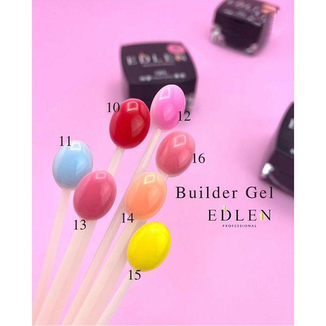Строительный гель Edlen Builder Gel №10 (классический ярко-розовый) 15 мл
