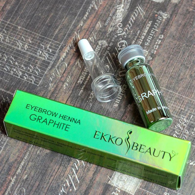 Хна для окрашивания бровей Ekkobeauty Henna Graphite (светлый графит) 7 г