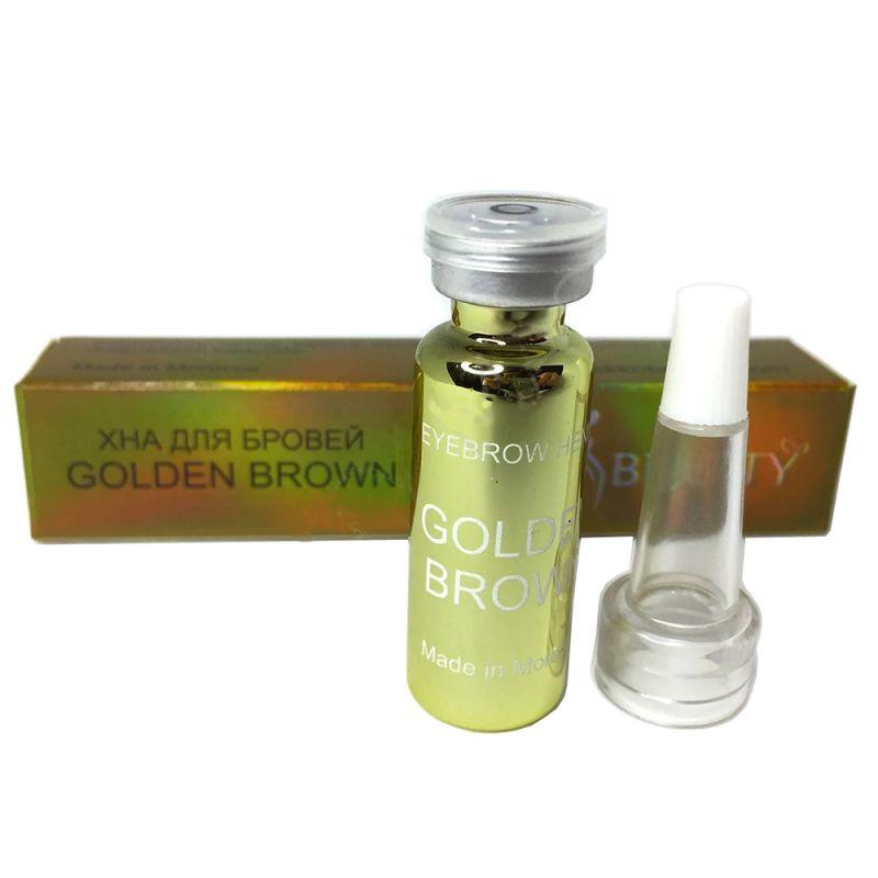 Хна для окрашивания бровей Ekkobeauty Henna Golden Brown (золотисто-коричневый) 7 г