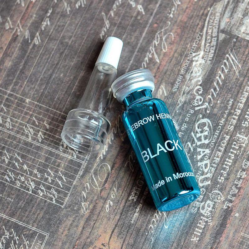 Хна для окрашивания бровей Ekkobeauty Henna Black (черный) 7 г
