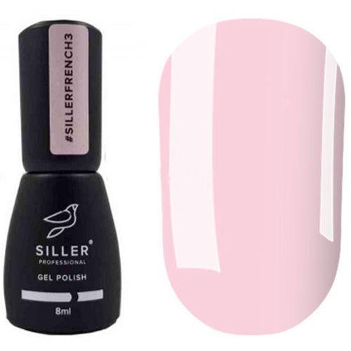 Гель-лак Siller French №003 (полупрозрачный нежно-розовый, эмаль) 8 мл