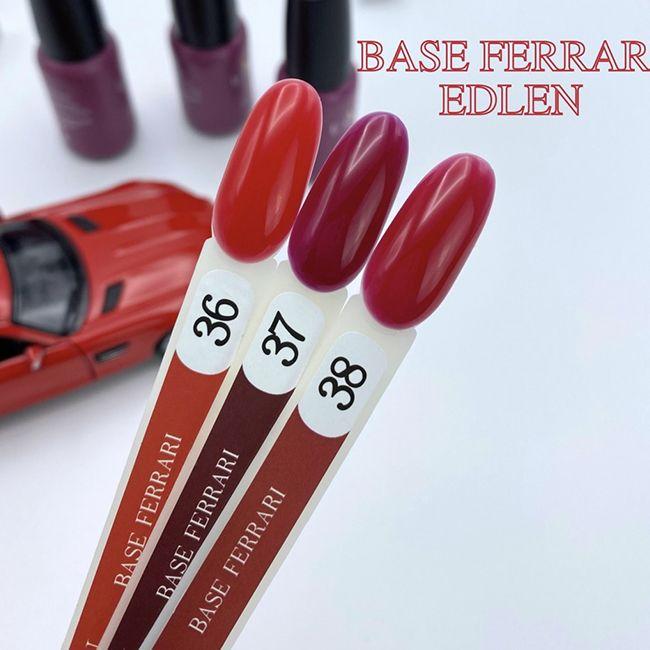 База для гель-лака Edlen Ferrari Base №36 (классический ярко-красный) 9 мл