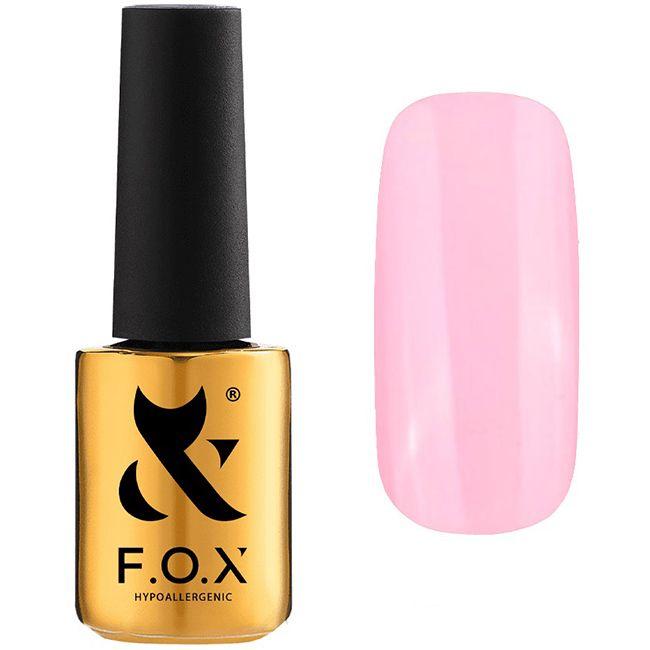 Гель-лак F.O.X Pigment Gel Polish №018 (светло-розовый, эмаль) 7 мл