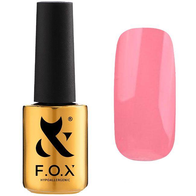Гель-лак F.O.X Pigment Gel Polish №023 (темно-розовый, эмаль) 7 мл