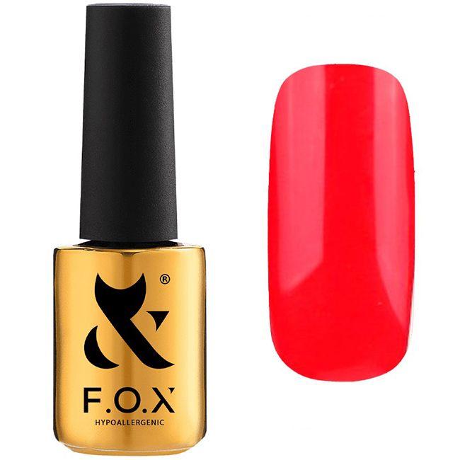 Гель-лак F.O.X Pigment Gel Polish №043 (клубнично-красный, эмаль) 7 мл