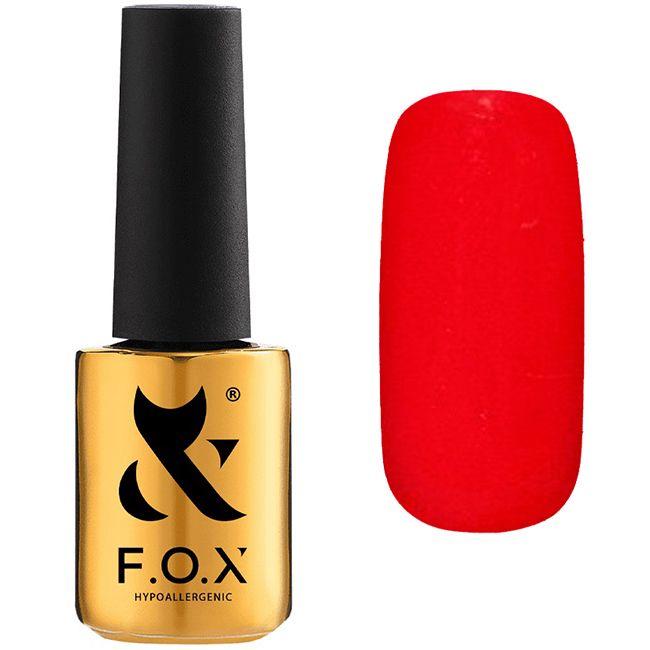 Гель-лак F.O.X Pigment Gel Polish №062 (насыщенный красный, эмаль) 7 мл