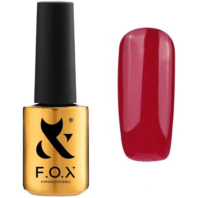 Гель-лак F.O.X Pigment Gel Polish №080 (бордовый, эмаль) 7 мл