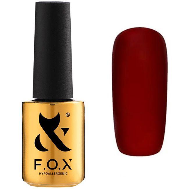 Гель-лак F.O.X Pigment Gel Polish №087 (насыщенный бордовый, эмаль) 7 мл
