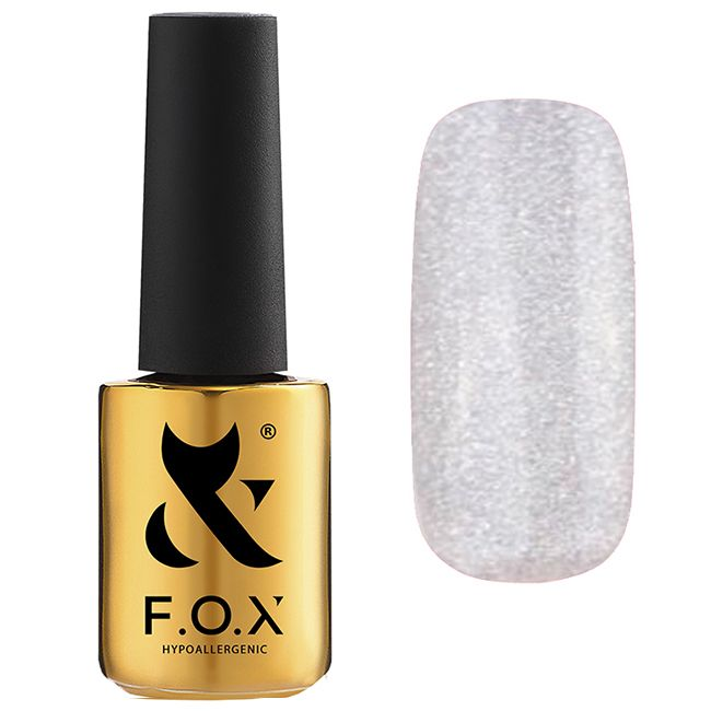 Гель-лак F.O.X Gel Polish Pigment №109 (серебристый с микроблеском) 7 мл