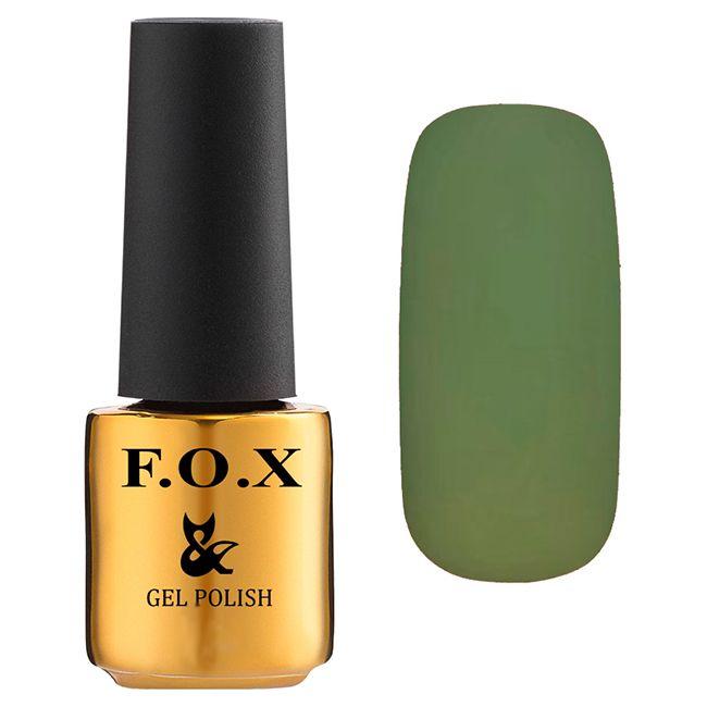 Гель-лак F.O.X Gel Polish Pigment №186 (болотно-зеленый кремовый, эмаль) 7 мл