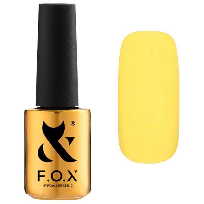 Гель-лак F.O.X Pigment Gel Polish №207 (светло-желтый кремовый, эмаль) 7 мл