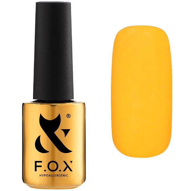 Гель-лак F.O.X Pigment Gel Polish №209 (мандариновый, эмаль) 7 мл