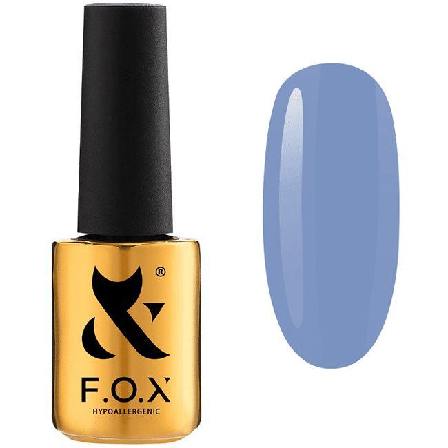 Гель-лак F.O.X Gel Vinyl Spectrum Spring №060 (сине-голубой, эмаль) 7 мл