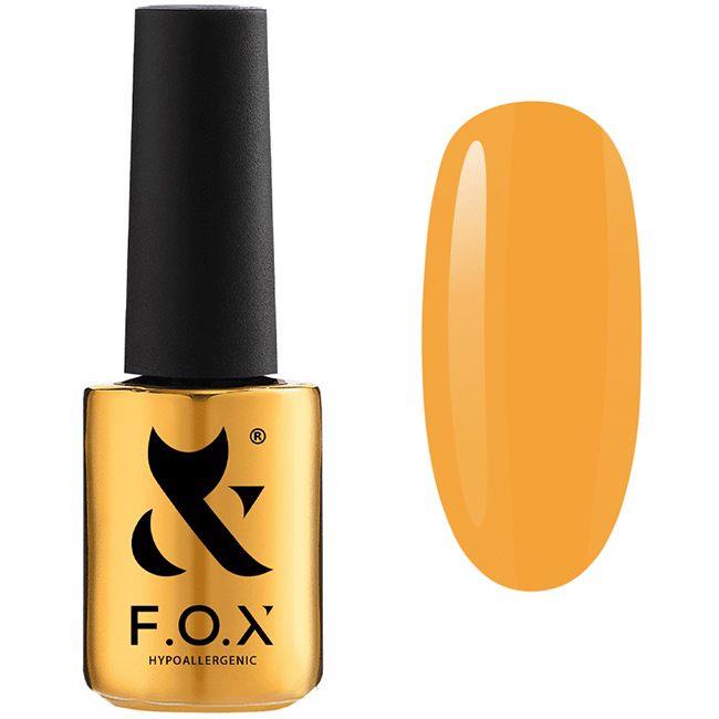 Гель-лак F.O.X Gel Vinyl Spectrum Spring №067 (оранжево-желтый, эмаль) 7 мл