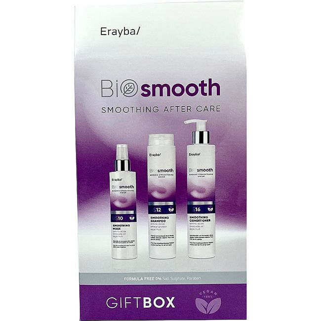 Набор Erayba Erayba Bio Smooth Smoothing After Care (шампунь BS12 250 мл, кондиционер BS16 250 мл, маска BS10 150 мл)