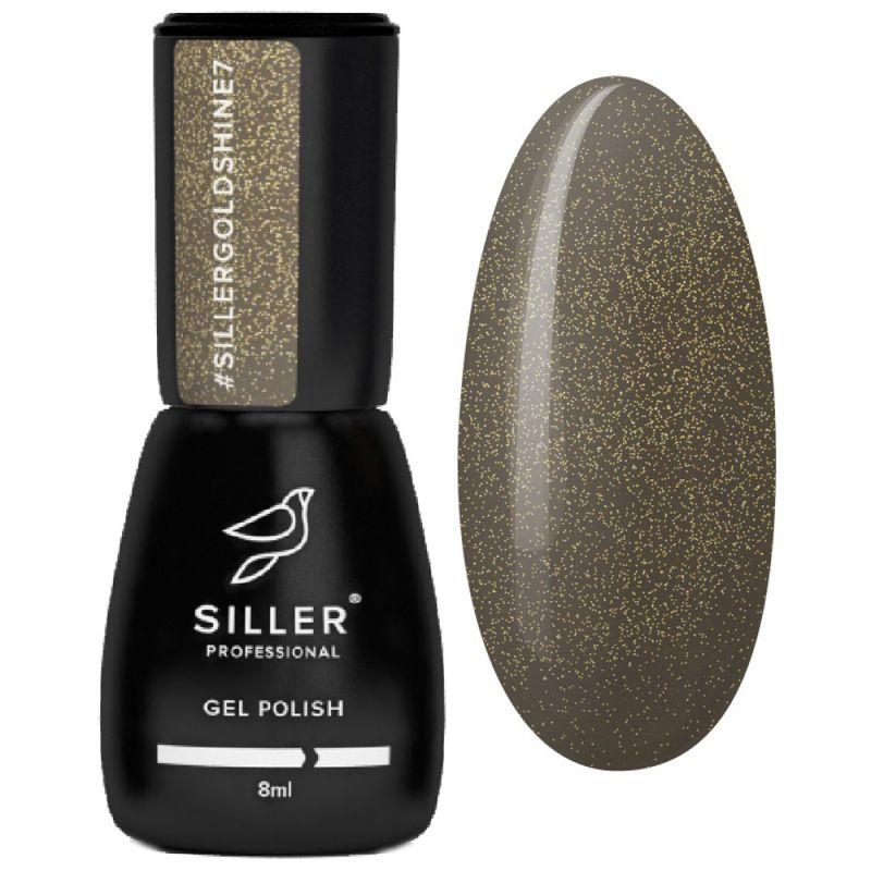 Гель-лак Siller Gold Shine №007 (серо-коричневый с золотым микроблеском) 8 мл