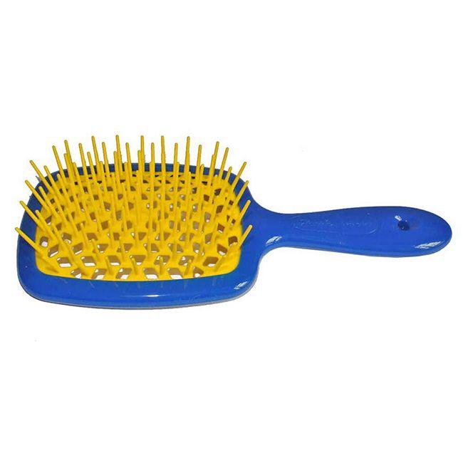 Расческа для волос Janeke 1830 Superbrush The Original Italian Blue Yellow