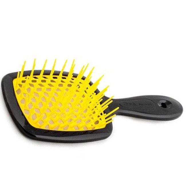 Расческа для волос Janeke 1830 Superbrush The Original Italian Black Yellow